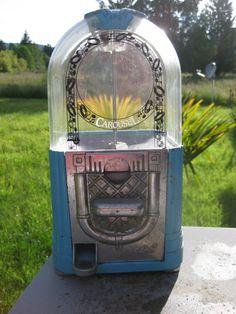 vintages gumball machine | Vintage Carousel Jukebox Gumball Machine
