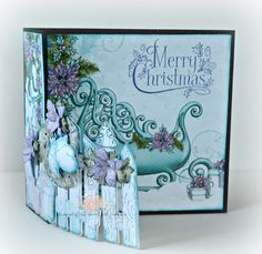 Christmas card I created using one of the flip fold inserts by Heartfelt Creations and their Celebrate the Season Collection
