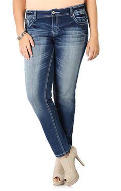 amethyst skinny jeans emma juniors plus size low rise blue denim
