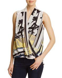 Milano Sleeveless Wrap Top - Compare at $62