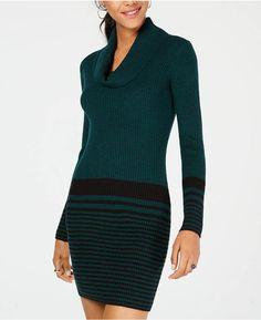 25bb2de742 BCX Juniors  Cowl-Neck Striped Sweater Dress Juniors - Dresses - Macy s