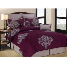 @Overstock - These beautiful queen size comforter sets can provide an elegant, stylish look on their own. Feel luxurious with the gorgeous design and comfortable material as you relax after hours of work. Enjoy the smooth, gentle touch of the high quality fabric.http://www.overstock.com/Bedding-Bath/Eastwick-8-piece-Queen-size-Comforter-Set/6026963/product.html?CID=214117 $66.99