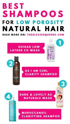 """19 Best Clarifying Shampoo For Low Porosity Hair """" Hair Care, You can throw out your unnatural conditioners, hair serum, and styling products, and replace them with this coconut oil which is an all-natural proble. Curl Shampoo, Natural Hair Shampoo, Shampoo For Curly Hair, 4c Hair, Curls Hair, Organic Shampoo, Afro Hair, Hair Comb, Best Natural Hair Products"""