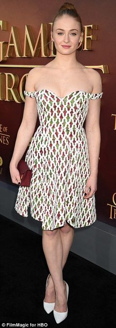 Stunners: Maisie Williams, 17, and Sophie Turner, 19, attended the Game Of Thrones season ...