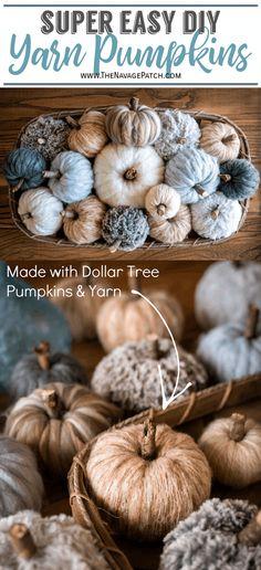 Dollar Tree Pumpkins, Foam Pumpkins, Dollar Tree Crafts, Dollar Tree Fall, White Pumpkins, Fall Pumpkin Crafts, Thanksgiving Crafts, Pumpkin Ideas, Diy Fall Crafts