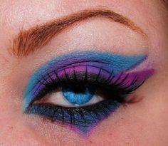 blue, purple, pink