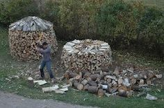 A Better Way to Stack Firewood. Scandinavian people have been taking wood heat seriously for centuries longer than we have. They also stack wood in round piles which take less time to stack, shed water better and are more stable than straight piles.