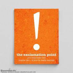Exclamation Point Gifts for Coworker Gifts for by GrammaticalArt