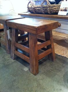 Pottery Barn Inspired Stool Tutorial - @Clelen Stephenson bar stools similar to mine your carpenter could make