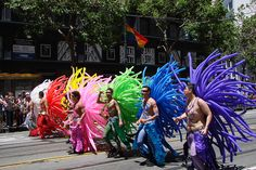 everyone should see a gay pride parade at least once.  They are the most colorful parades ever.  And very interesting.