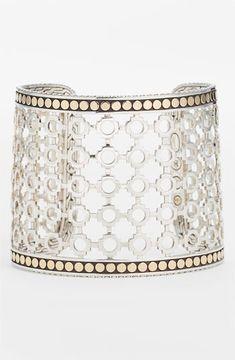 shopstyle.com: John Hardy 'Dot' Wide Cuff Silver/ Gold