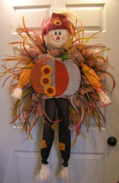 Punkin' Belly Scarecrow Wreath – MilandDil Designs