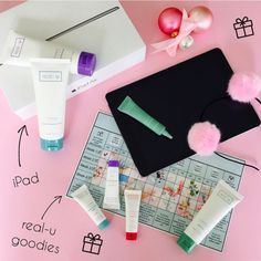 MASSIVE real-u Christmas Giveaway!  Giveaway includes iPad Air, real-u Cleanse, Control, Hydrate, Spot Treatment, Travel Pack, #skinfit program and cute real-u Pink Headband, valued at up to $700.