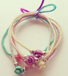 Armband Boho Roses - WitZandGrijs wonen, sieraden en mode