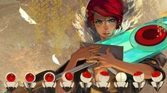 Red #Transistor Steam trading card (1920×1080)