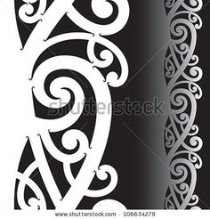 Illustration about Maori styled tattoo pattern. Illustration of sign, maori, spiral - 25560095 Maori Tattoo Patterns, Maori Patterns, Mug Rug Patterns, Celtic Patterns, Pattern Tattoos, Design Patterns, Maori Designs, Tiki Tattoo, Polynesian Art