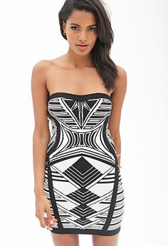 Strapless Abstract Sweater Dress | FOREVER21 - 2000060254