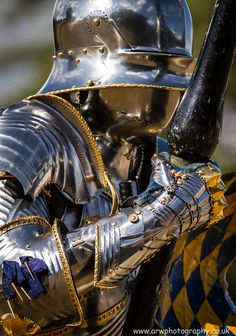 (photo by ARW Photography) Jouster Mark Caple in the armour made for him by William West of Englyshe Plate Armourie based on the 15th century armour of Sigismund of Tyrol.