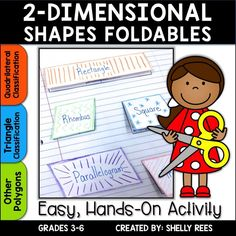 Shapes - Geometry and 2 Dimensional Shapes Foldables Polygons Quadrilaterals 2d Shapes Activities, Math Activities, Shape Anchor Chart, Anchor Charts, Geometry Lessons, Visible Learning, Dimensional Shapes, Teaching Math, Teaching Ideas