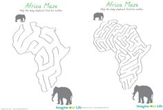 Animals of Africa for the Montessori Wall Map & Quietbook with Printables – Mary Keene – Join in the world Pre K Activities, Social Studies Activities, Montessori Activities, Africa Continent, Africa Map, Africa Craft, Around The World Theme, World Geography, Wall Maps