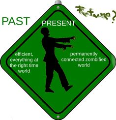 Image of a zombie walking towards an unclear future
