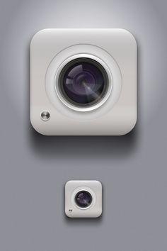 Camera icon by Fabio Benedetti via dribbble 79821 App Icon Design, Ui Design Inspiration, Logo Design, 3d Camera, Camera Icon, Mobile Icon, Mobile Ui, Launcher Icon, Ui Buttons
