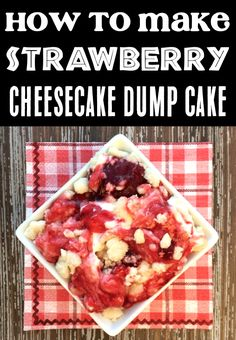 Dump Cake Recipes - Easy Strawberry Cheesecake Cobbler! With just 4 ingredients, this dreamy treat will be the EASIEST dessert you'll make all week! Go grab the recipe and give it a try! Lemon Dump Cake Recipe, Dump Cake Recipes, Summer Desserts, Fun Desserts, Dessert Recipes, Strawberry Cheesecake, Strawberry Recipes, Holiday Recipes, Holiday Ideas