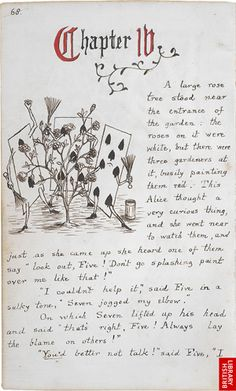 This I could actually read.. Maybe in one sitting:) Alice In Wonderland (Original Manuscript)