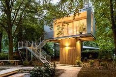 Urban Treehouses in Berlin Equipped with Kitchen and Bath for Long-Term Living - My Modern Met