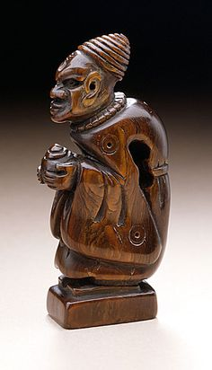 Netsuke  ~  Seal Carved as Temple Servant, Japan, 18th century, Rhinoceros horn