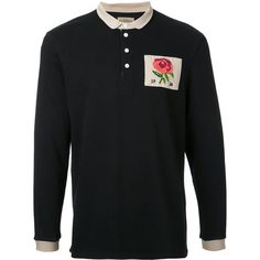 Kent & Curwen Stokes Rose polo shirt (2.308.600 IDR) ❤ liked on Polyvore featuring men's fashion, men's clothing, men's shirts, men's polos, black, men's cotton polo shirts, mens rose t shirt, mens polo shirts and mens cotton shirts