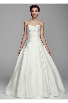 56d8154f75a Oleg Cassini Mikado and Lace Wedding Dress CWG628 Davids Bridal Gowns