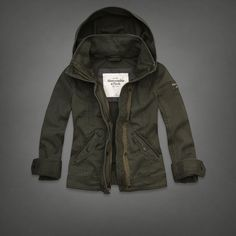 Hooded Military Jacket | Abercrombie.com | Check out our Pin To Win Challenge at http://on.fb.me/UfLuQd