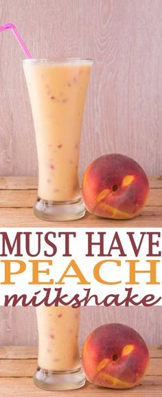 peach milkshake with soy milk. Our Peach Milk Shake with Soy Milk is so delicious. Soy milk is a healthy dairy milk alternative that you can use as a substitute in all your milkshakes. You'll want to try this fruity milk shake recipe. Smoothie Drinks, Fruit Smoothies, Healthy Smoothies, Healthy Drinks, Eating Healthy, Healthy Snacks, Clean Eating, Healthy Breakfasts, Milk Shakes