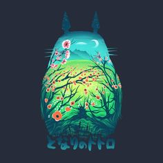 He is My Neighbor T-Shirt $12 Totoro tee at Once Upon a Tee!