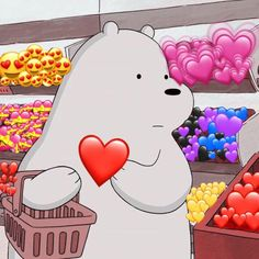 Just buyng a new heart after u broke mine ; Wallpaper Animes, Cartoon Wallpaper Iphone, Mood Wallpaper, Bear Wallpaper, Cute Wallpaper Backgrounds, Galaxy Wallpaper, Animal Wallpaper, We Bare Bears Wallpapers, Panda Wallpapers