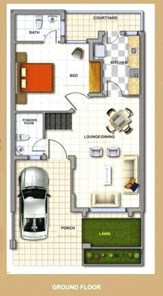Affordable house design india - House and home design Modern Bungalow House Design, Row House Design, Duplex House Design, House Design Photos, Modern House Plans, Small House Plans, Small House Layout, House Layout Plans, House Layouts