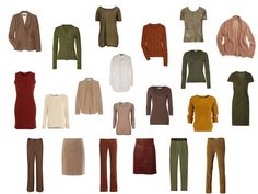 A warm brown, green and rust capsule wardrobe based on a painting by Klimt | The Vivienne Files