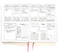 25 Weekly Spread Ideas for your Bullet Journal - christina77star.co.uk