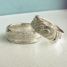 Faux bois rings