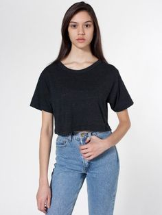 547059069c4 Tri-Blend Short Sleeve Scrimmage Shirt Diy Crop Top
