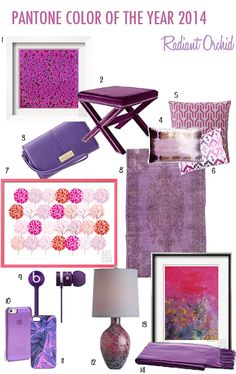 PANTONE COLOR OF THE YEAR: RADIANT ORCHID #QueenColorSchemes