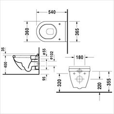 Starck 3 Wall Hung WC / Geberit 1.12 Sigma01 Pack