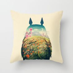 Tonari no Totoro by Victor Vercesi THROW PILLOW / COVER (16 X 16) $20.00