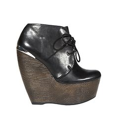 SERUM BLACK LEATHER women's bootie high lace up - Steve Madden