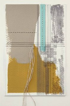 Rachel T Robertson - morse code love 01 - mixed media