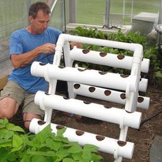 u-grow Large pvc pipe filled with dirt.