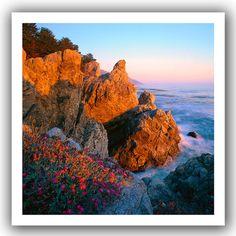 ArtWall Dean Uhlinger 'Big Sur Sunset' Unwrapped