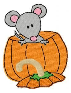 "Pumpkin Mice For the 4""x4"" hoop 4 delightfully playful mice with pumpkins to enhance your fall stitching, they are too cute, Don't miss the LOW Intro Price. Mary Britt has a touch with all things Autumn and here she proves it again."