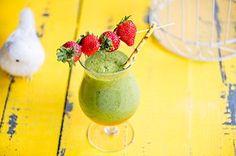 Virkistävä vihersmoothie Smoothie Drinks, Smoothies, Hurricane Glass, Pudding, Cooking, Tableware, Desserts, Food, Pineapple
